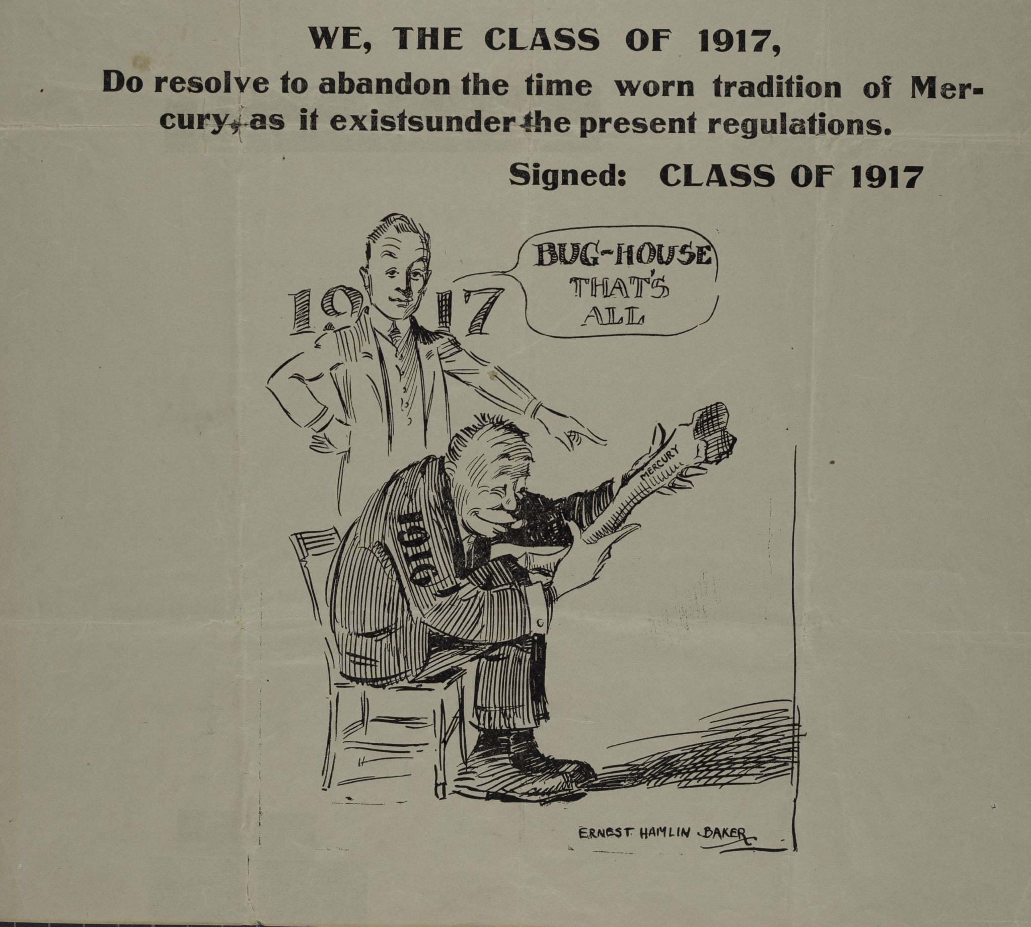 "<p>Class of 1917. ""Hear Ye, 1916"" Broadside. Circa 1913.</p><p>Student Broadside Collection.</p><p>Special Collections and University Archives,</p><p>Colgate University Libraries.<p>"