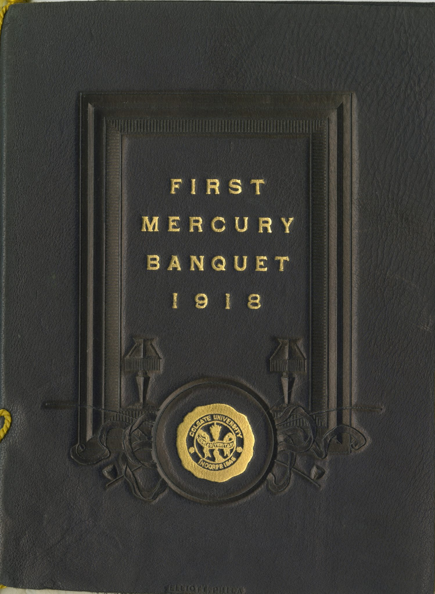 <p>Class of 1918 First Mercury Banquet program, 1914.</p><p>Mercury Collection.</p><p>Special Collections and University Archives,</p><p>Colgate University Libraries.</p>