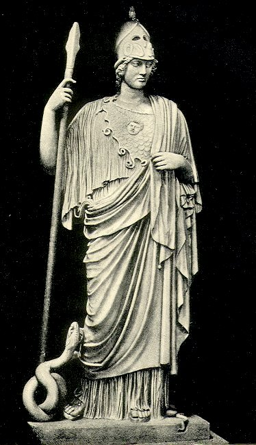 <p><i>The Athena Giustiniani.</i></p><p>Roman copy after original</p><p>of 4th c. BCE. Marble.</p><p>Museo Pio-Clementino, Vatican City.</p>