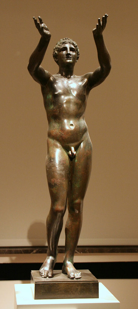 <p><i>The Praying Boy.</i></p><p>c. 300 BCE. Bronze.</p><p>Berlin Museum, Berlin.</p>