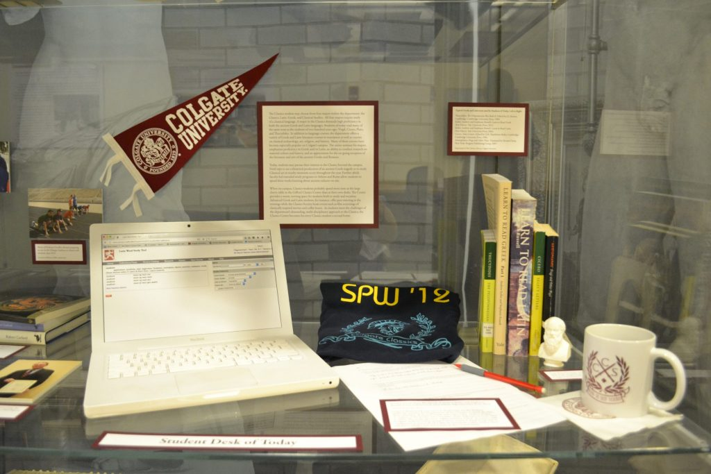 <p>Student Desk of Today in Exhibition.</p><p>Photo by Erica Hiddink '17.</p>