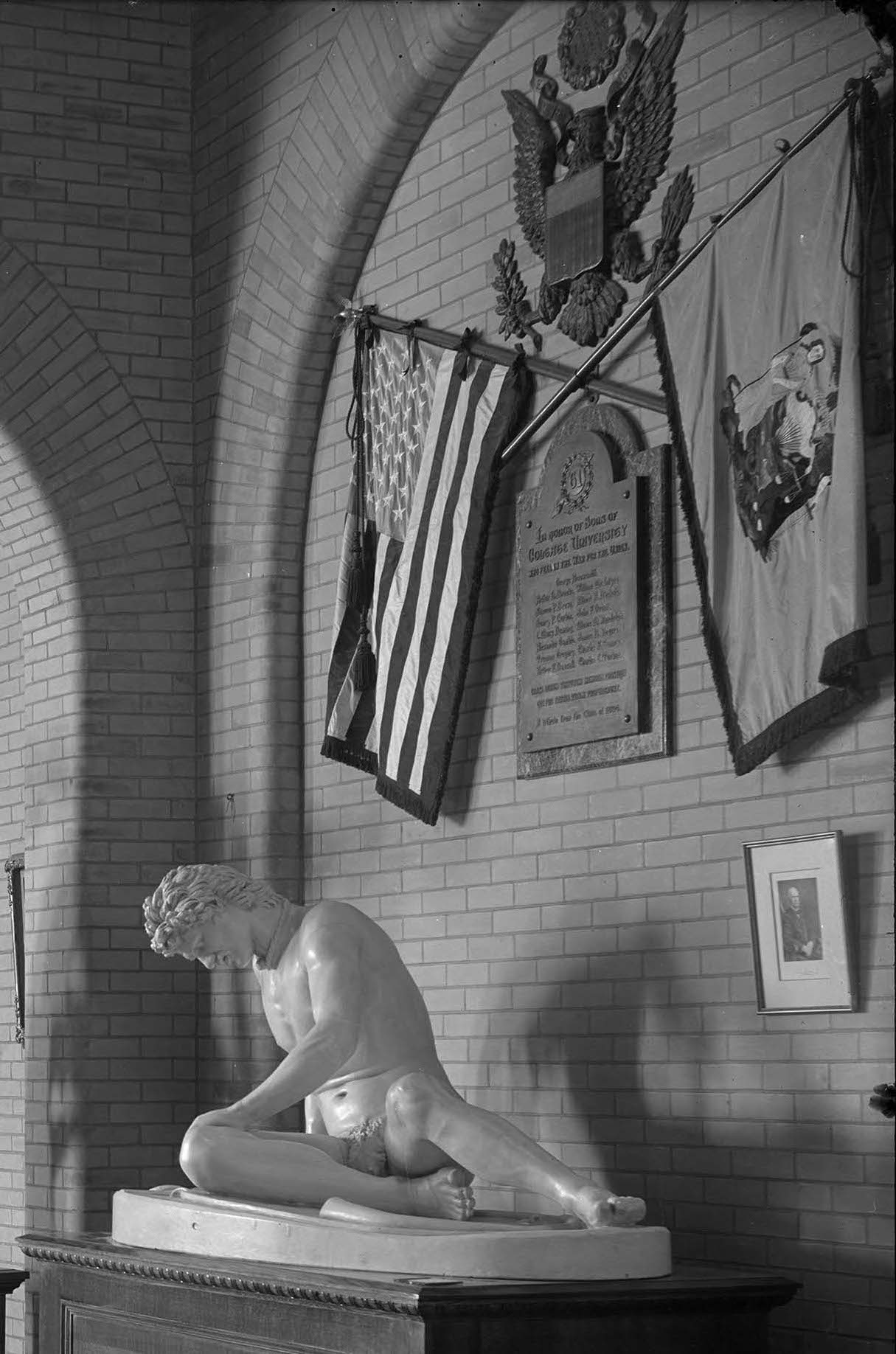<p>Civil War Memorial, 1904.</p><p>Photo by Edward H. Stone.</p><p>Edward H. Stone Collection.</p><p>Special Collections and University Archives,</p><p>Colgate University Libraries.</p>