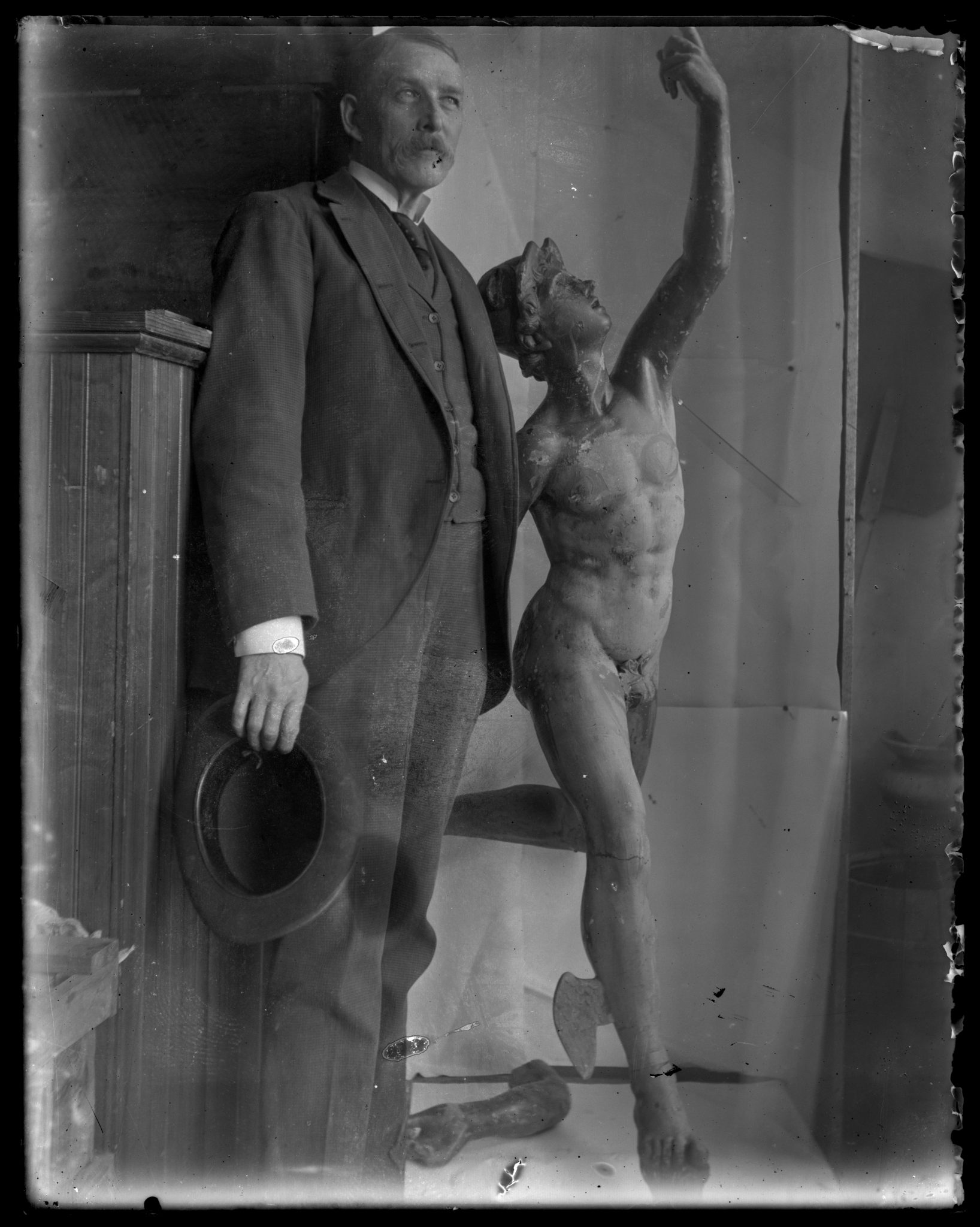 <p>Picture of Mercury with Unknown Man, 1913.</p><p>Mercury Collection.</p><p>Special Collections and University Archives,</p><p>Colgate University Libraries.</p>