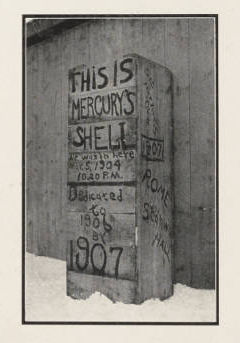 <p>Mercury Shell. </p><p><i>Salmagundi,</i> 1905. Hamilton, NY:</p><p>Colgate University Press, 1904.</p><p>Colgate University Libraries.</p>