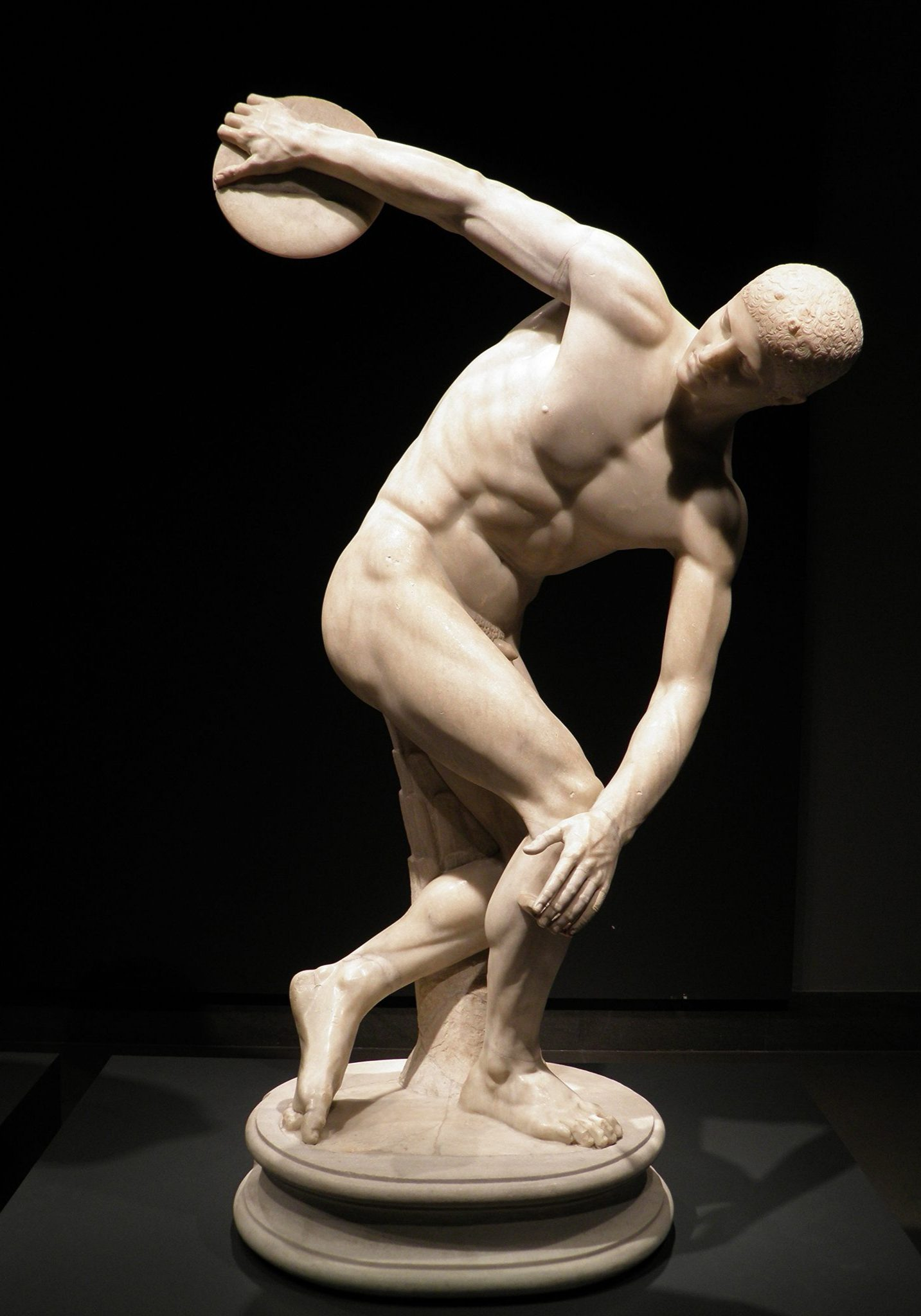 <p><i>The Discobolus.</i></p><p>Roman copy after original of 5th c. BCE,</p><p>attributed to Myron. Marble.</p><p>British Museum, London.</p>