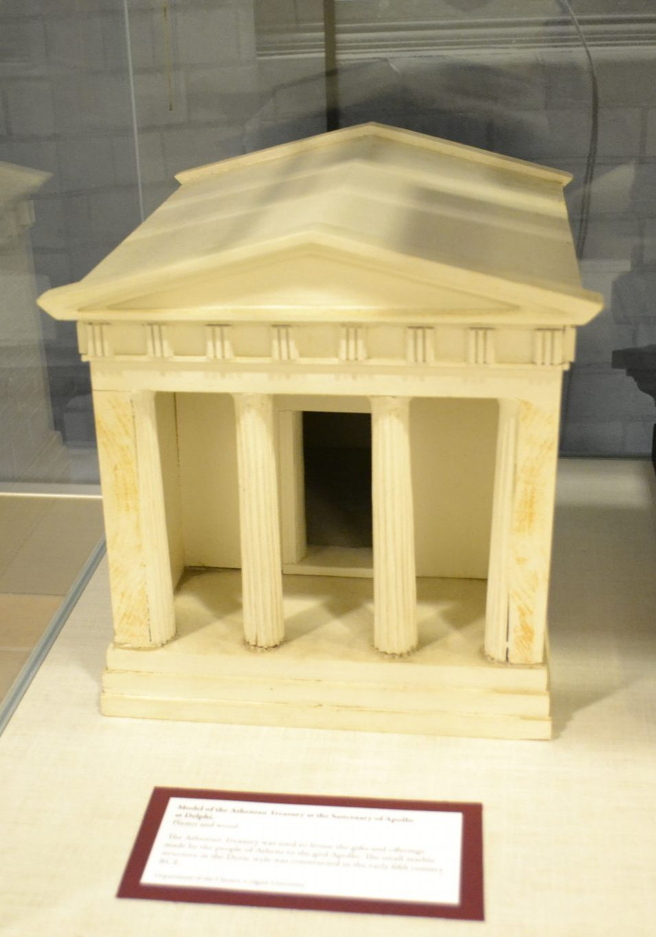 <p>Athenian Treasury at Delphi.</p><p>Student Project of the 1960s.</p><p>Department of the Classics,</p><p>Colgate University.</p><p>Photo by Erica Hiddink '17.</p>