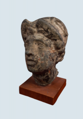 <p>Head of Mercury, 1879.</p><p>Mercury Collection.</p><p>Special Collections</p><p>and University Archives,</p><p>Colgate University Libraries.</p>